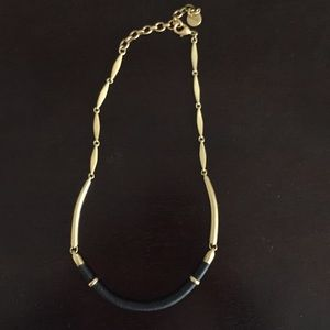 Retired Leather Wrapped Collar Necklace